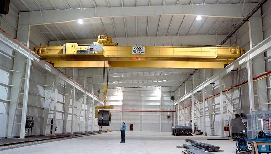35-ton crane capacity